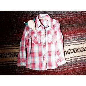 """""""ELY BY CUMBERLAND"""" YOUTH PEARL SNAP - PINK"""